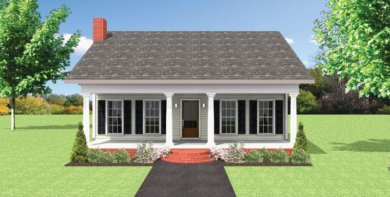 Country House Plan Front of Home - 028D-0086 | House Plans and More