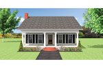 Ranch House Plan Front of Home - 028D-0086 | House Plans and More