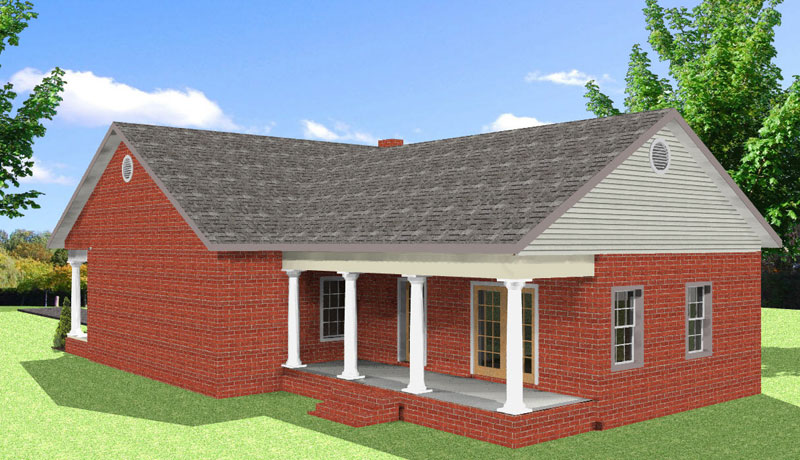 Ranch House Plan Color Image of House - 028D-0086 | House Plans and More