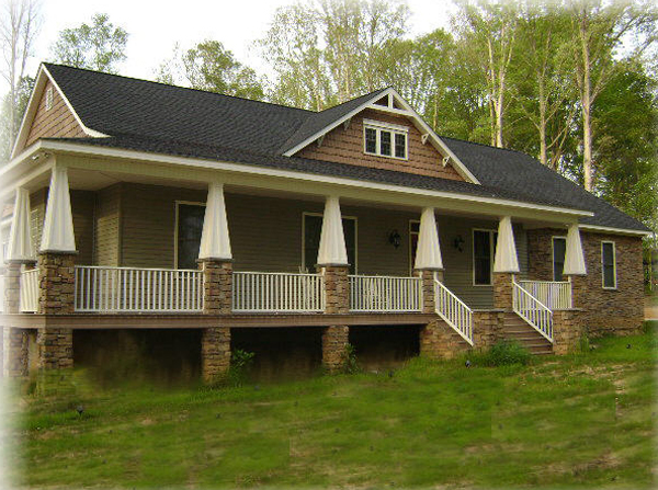 Ranch House Plan Front of Home 028D-0087