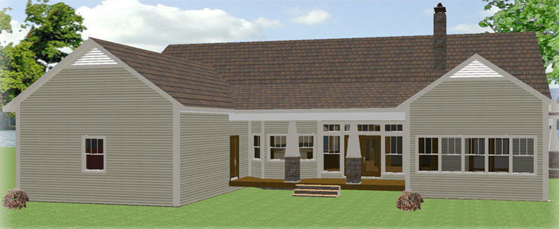Ranch House Plan Color Image of House 028D-0087