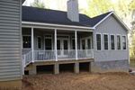 Craftsman House Plan Rear Photo of House - 028D-0087 | House Plans and More