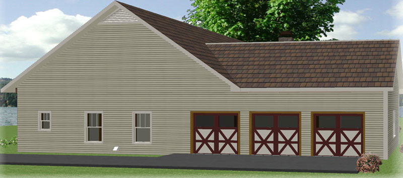 Ranch House Plan Side View Photo 01 028D-0087
