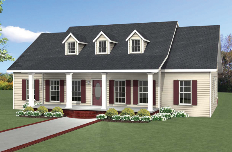 Country House Plan Front of Home - 028D-0088 | House Plans and More