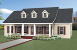 Ranch House Plan Front of Home - 028D-0088 | House Plans and More