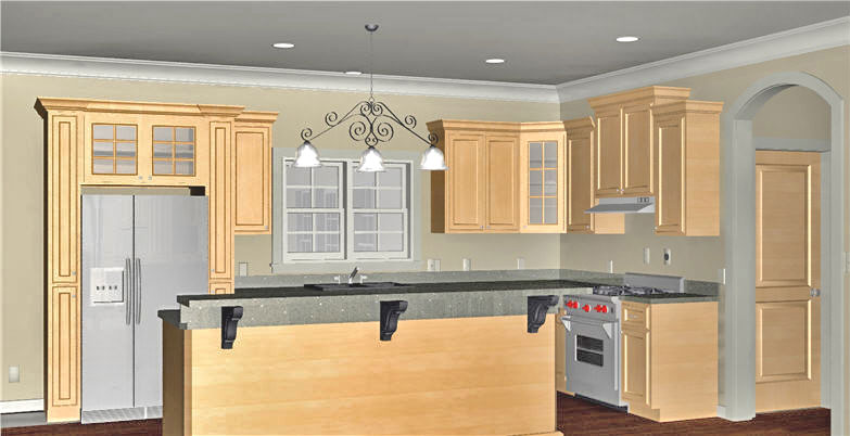 Traditional House Plan Kitchen Photo 01 - 028D-0088 | House Plans and More