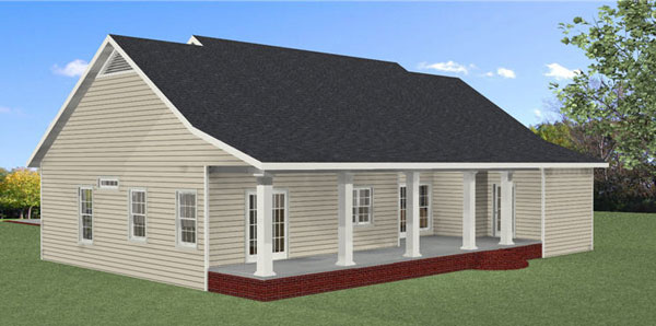 Southern House Plan Color Image of House - 028D-0088 | House Plans and More