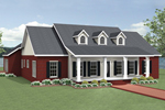 Ranch House Plan Front of Home - 028D-0089 | House Plans and More