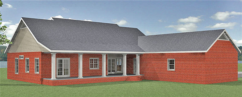 Ranch House Plan Color Image of House - 028D-0089 | House Plans and More
