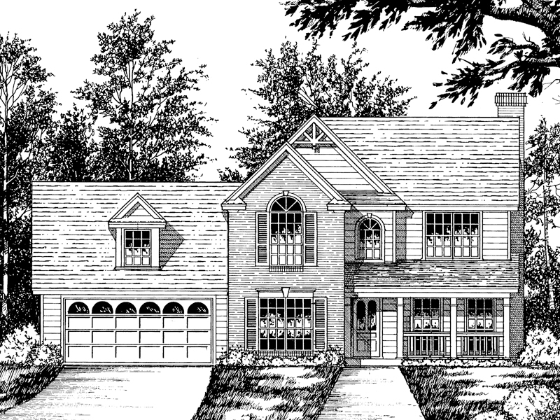 Traditional House Plan Front of Home - 030D-0006 | House Plans and More