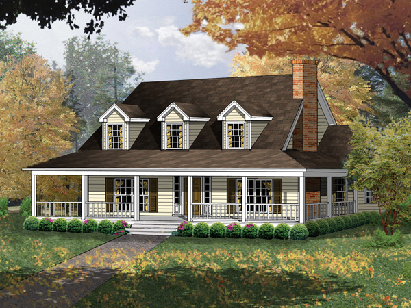 Farmhouse plans country house plans home designs for Cape code house plans