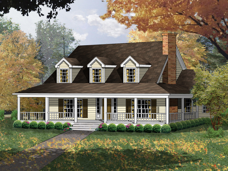 Farmhouse With Wrap Around Porch | Carney Place Cape Cod Farmhouse Plan 030d 0012 House Plans And More