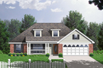 Comfortable Country Ranch Design With Double Dormers