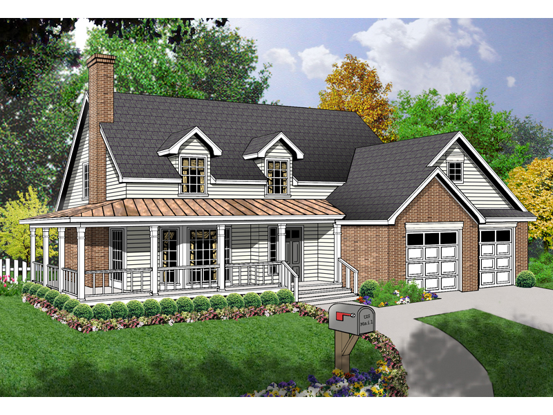 Attractive, Relaxing Home With Wrap-Around Porch