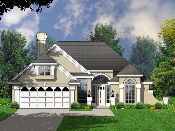 Lincroft luxury sunbelt home plan 030d 0052 house plans for Sunbelt homes
