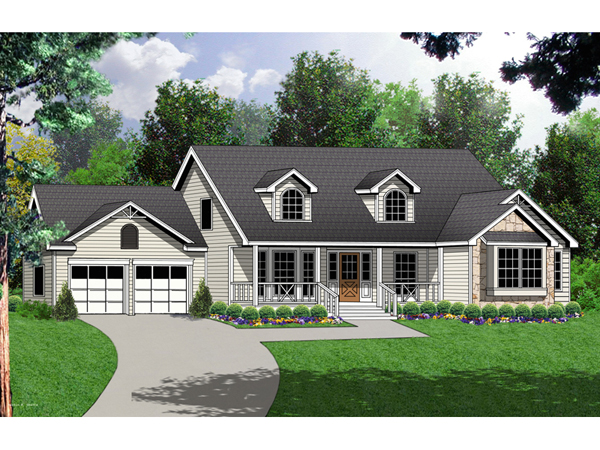 Nutley farmhouse plan 030d 0055 house plans and more for House plans with dormers and front porch
