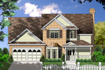 Traditional Two-Story Style Home Combines Siding And Brick