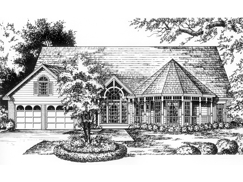 Farmhouse Plan Front of Home - 030D-0065 | House Plans and More