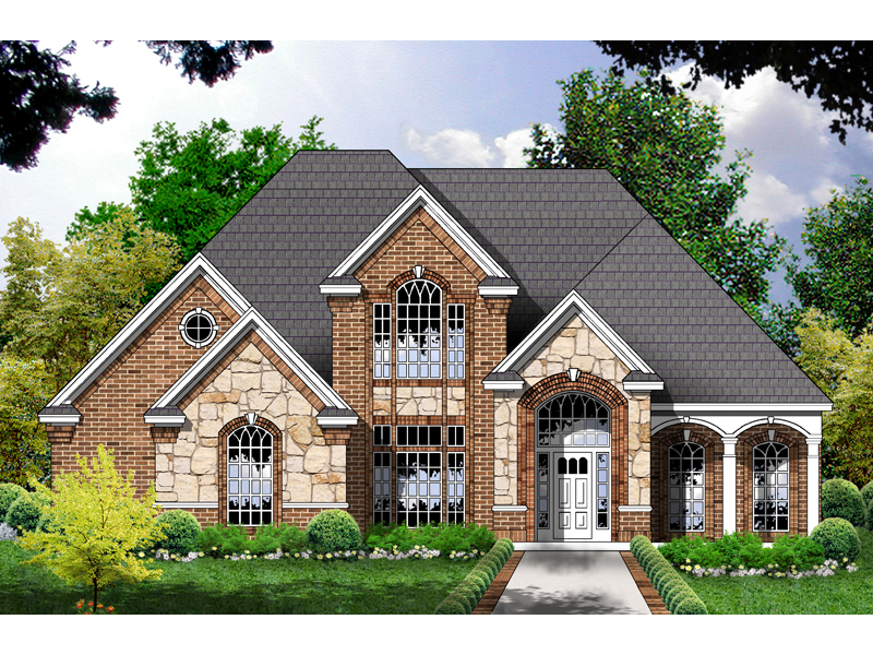 Townsbury European Home Plan House Plans And More