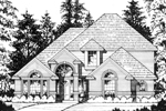 European Style Two-Story Home Has Striking Curb Appeal With Many Roof Lines