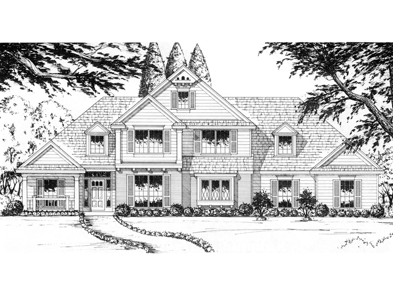 Large Traditional Two-Story Has Eye-Catching Appeal