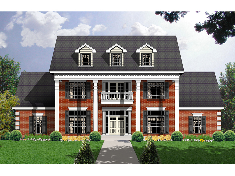 Homes With Columns carley point georgian home plan 030d-0104 | house plans and more