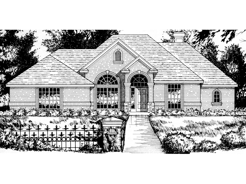 Ranch House Plan Front of Home - 030D-0149 | House Plans and More