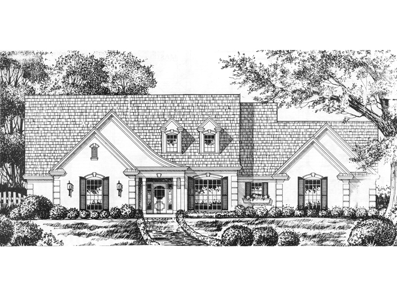 English Cottage Plan Front of Home 030D-0162