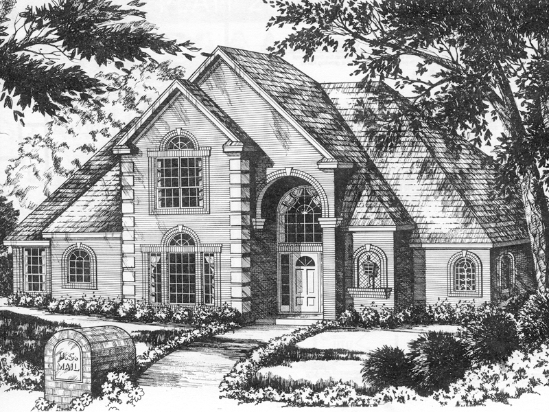 Showcase Home With Elegant Brick Style And Arched Entry