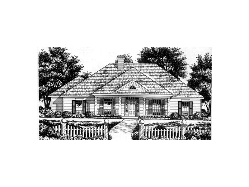 Southern House Plan Front of Home - 030D-0217 | House Plans and More