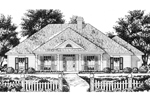 Formal Southern Home Design With Columned Porch