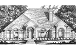 Traditional Home Design With Grand Curb Appeal