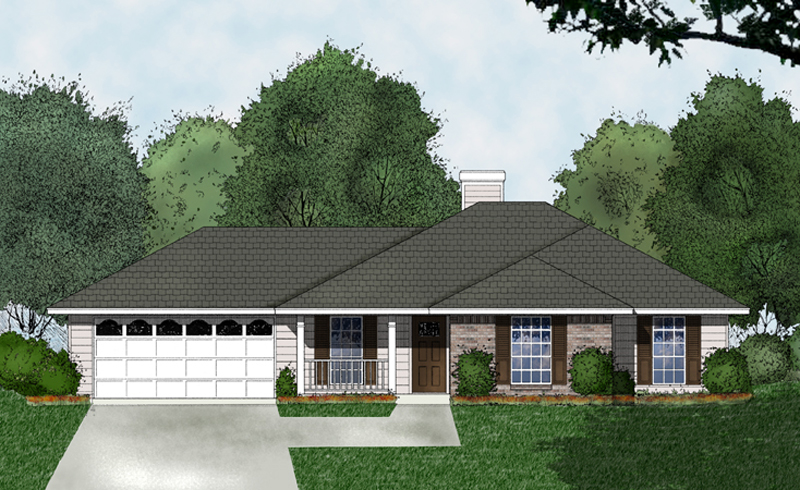Southwestern House Plan Front of Home - 030D-0226 | House Plans and More