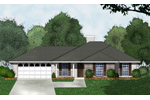 Ranch House Plan Front of Home - 030D-0226 | House Plans and More