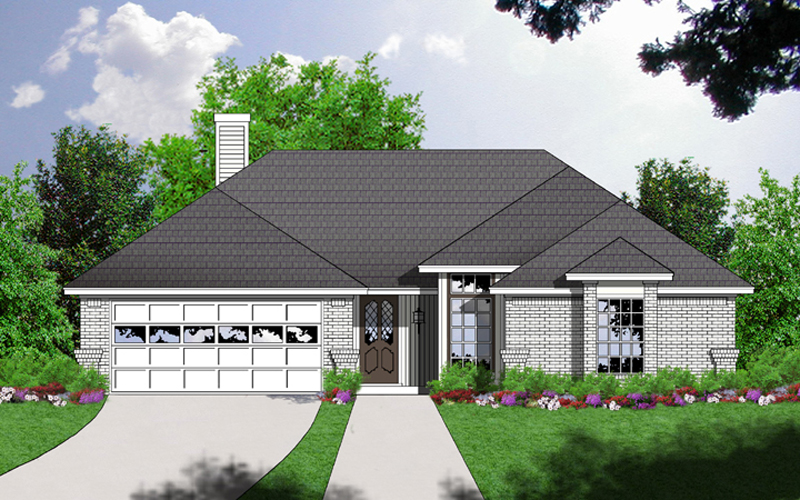 Southern House Plan Front of Home - 030D-0227 | House Plans and More