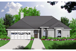 Ranch House Plan Front of Home - 030D-0227 | House Plans and More