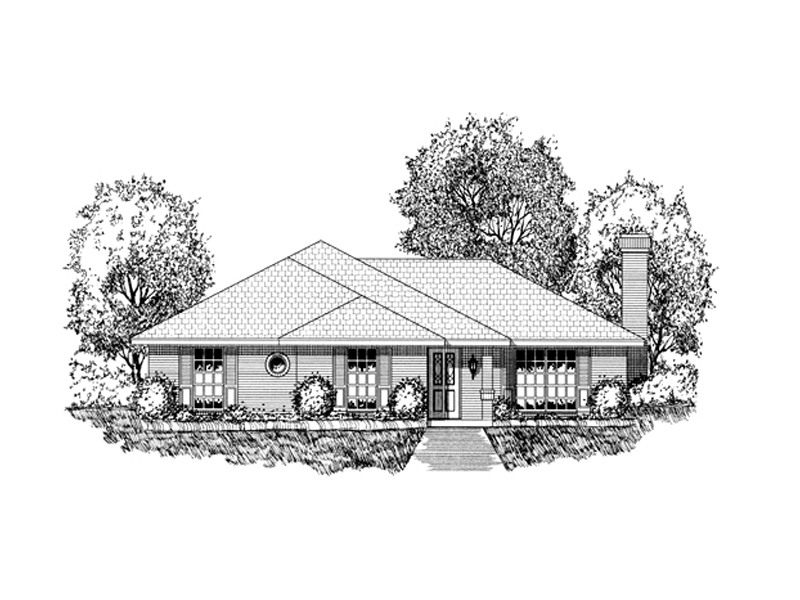 Traditional House Plan Front of Home - 030D-0228 | House Plans and More