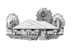 Ranch House Plan Front of Home - 030D-0228 | House Plans and More