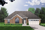 Ranch House Plan Front of Home - 030D-0229 | House Plans and More