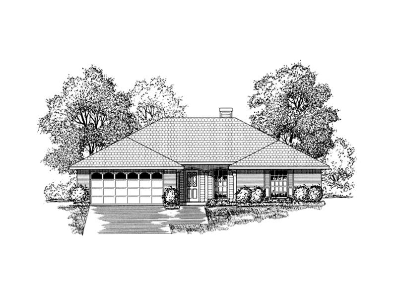 Southwestern House Plan Front of Home - 030D-0230 | House Plans and More