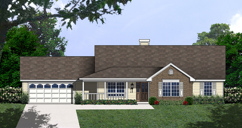 Ranch House Plan Front of Home - 030D-0231 | House Plans and More