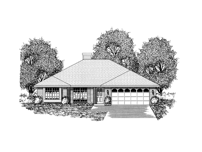 Traditional House Plan Front of Home - 030D-0232 | House Plans and More