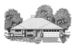 Ranch House Plan Front of Home - 030D-0232 | House Plans and More