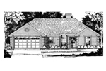 Southern House Plan Front of Home - 030D-0233 | House Plans and More