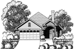 Ranch House Plan Front of Home - 030D-0234 | House Plans and More