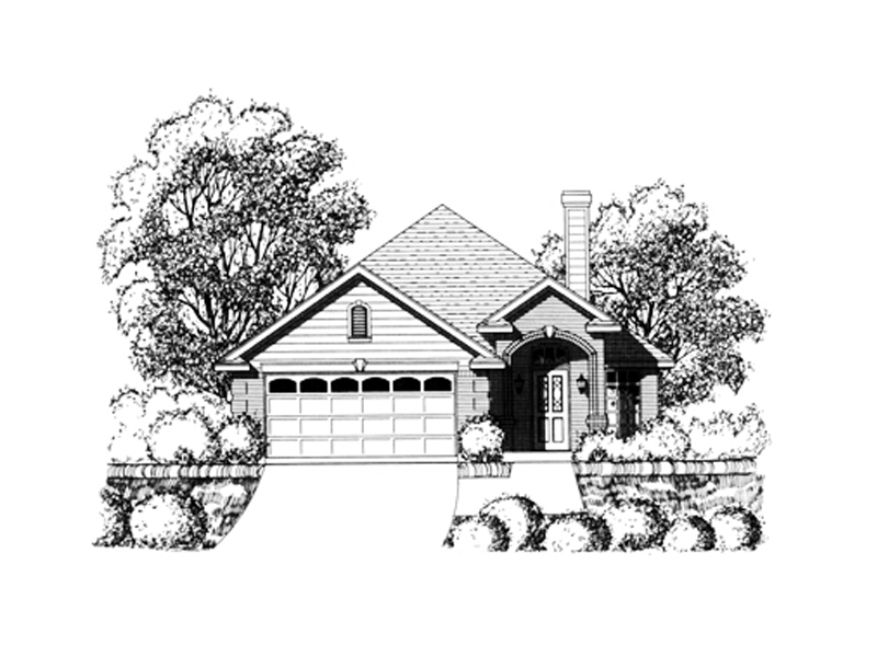 Southwestern House Plan Front of Home - 030D-0235 | House Plans and More