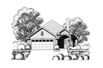 Ranch House Plan Front of Home - 030D-0235 | House Plans and More