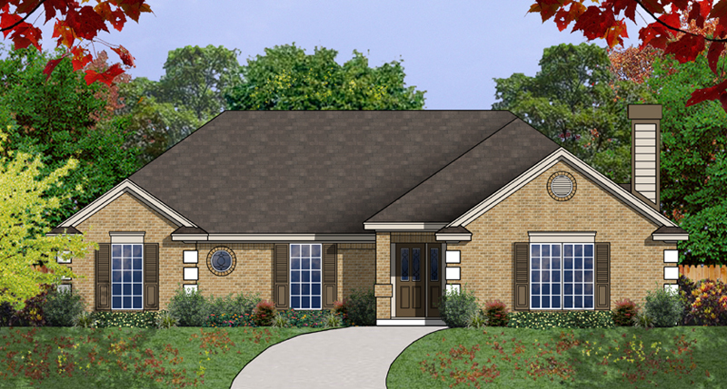 Ranch House Plan Front of Home - 030D-0236 | House Plans and More