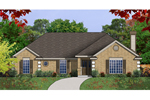 Southwestern House Plan Front of Home - 030D-0236 | House Plans and More