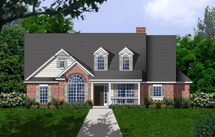 Ranch House Plan Front of Home - 030D-0238 | House Plans and More